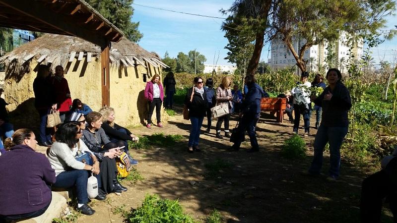 סיור טבע וקהילה בבאר שבע עם צוותי ניהול של קרן תל